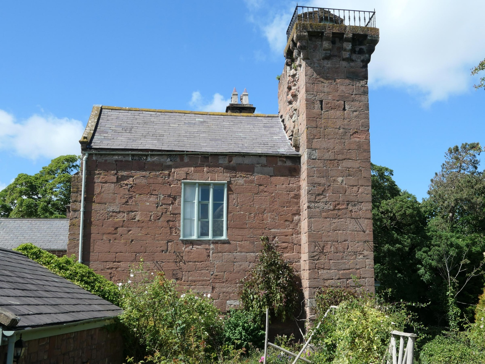 The tower at Brimstage Hall.