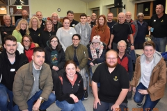 Members of Wirral Archaeology with Students from Liverpool University and members of Wirhalh Skip Felagr at the artefacts cleaning day.