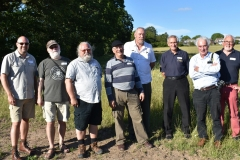 Front row: Michael Livingston, Robert Woosnam Savage, Kelly DeVries, Chas Jones. Battle of Fulford 1066, project. Robert Philpott. Archaeologist. Others in group are WA members.